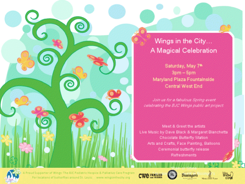 Nicki's Central West End Guide Art & Architecture Events, Sightings Food and Drink For Children  Wings in the City Maryland Plaza Central West End Families and Friends Bissinger's