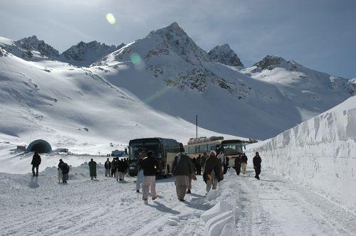 Snow scene Afghanistan