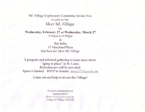 STL Village Invitation