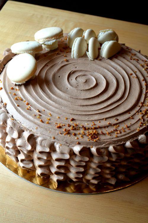 Yule Log Crepe Cake