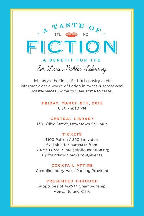 A Taste of Fiction Evite