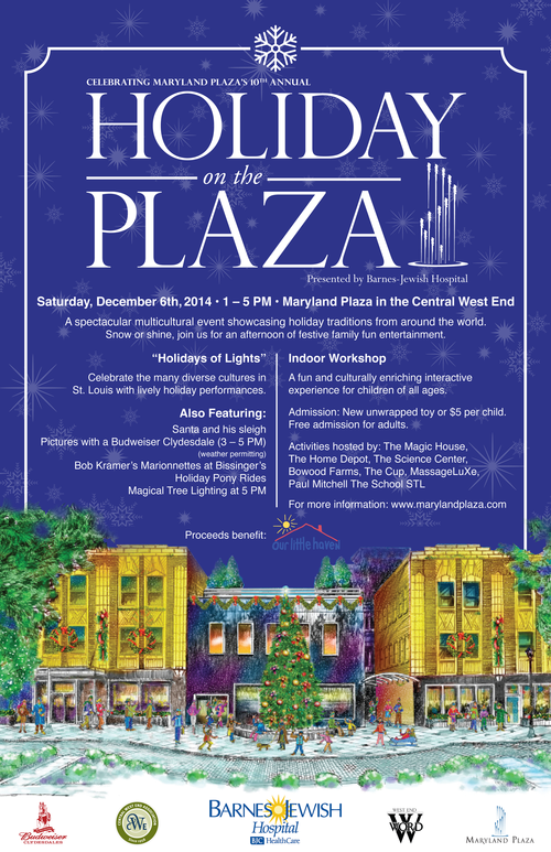 Holiday on the plaza